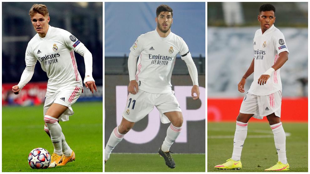 Juegan Odegaard, Asensio y Rodrygo y Zidane reserva a Casemiro