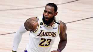 LeBron James en un partido de las pasadas Finales de la NBA.