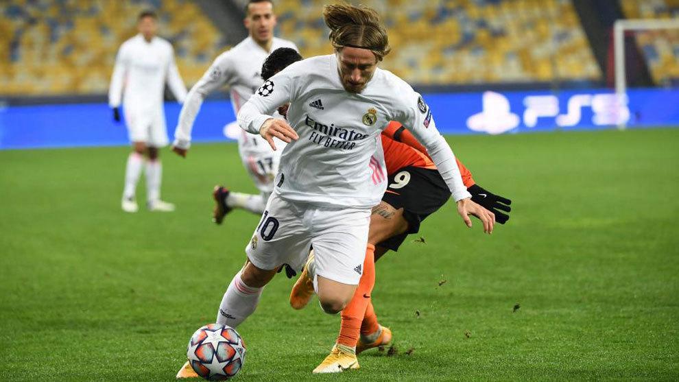 Luka Modric, durante el partido ante el Shakhtar