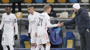 Vinicius, Mariano, Odegaard y Zidane