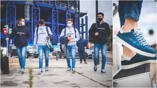 Zapatillas solidarias en el uniforme de paseo del Levante.