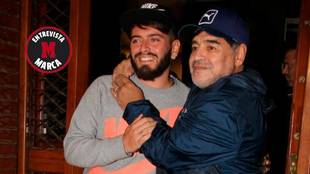 """Diego Maradona junior: """"El '10' se debería retirar donde mi padre jugó, incluido el Barcelona"""""""