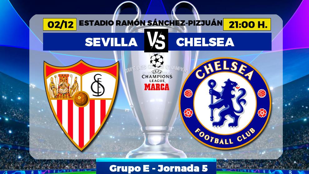 Sevilla - Chelsea: horario, canal y donde ver por TV hoy el partido de...