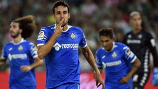 Jaime Mata celebra un gol.
