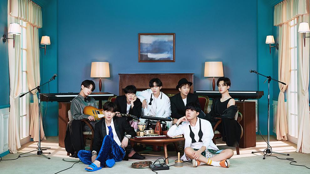 Los integrantes de la banda BTS.