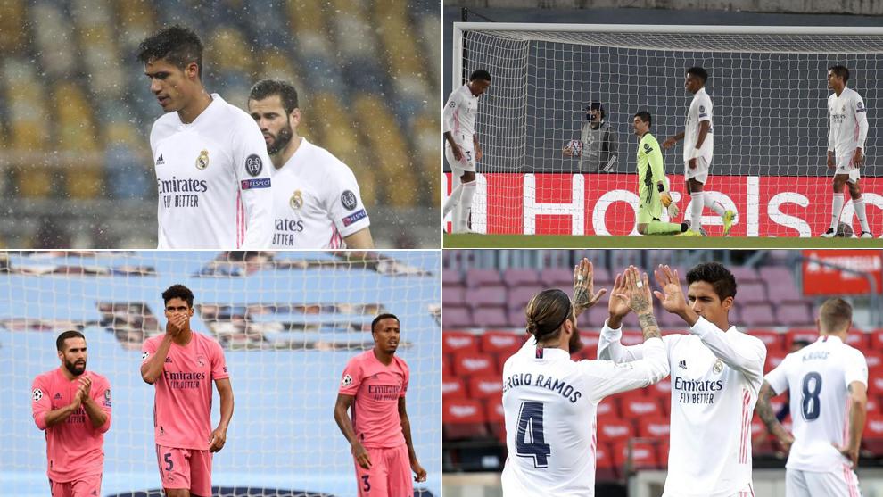 Varane, en los partidos contra el Shakhtar, el City y el Clásico