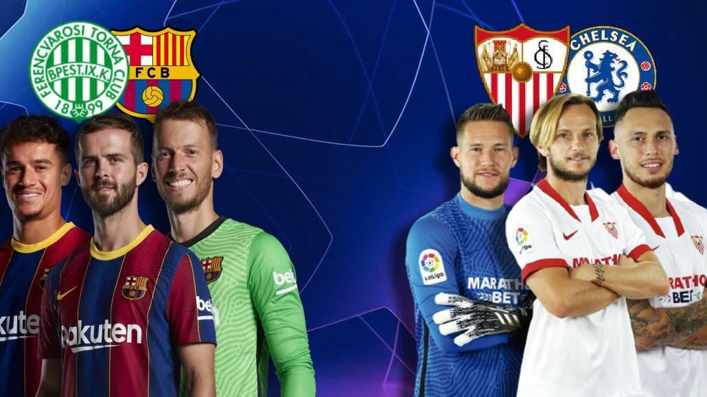 Ferencvaros vs Barcelona y Sevilla vs Chelsea, última hora en directo: onces oficiales, novedades...