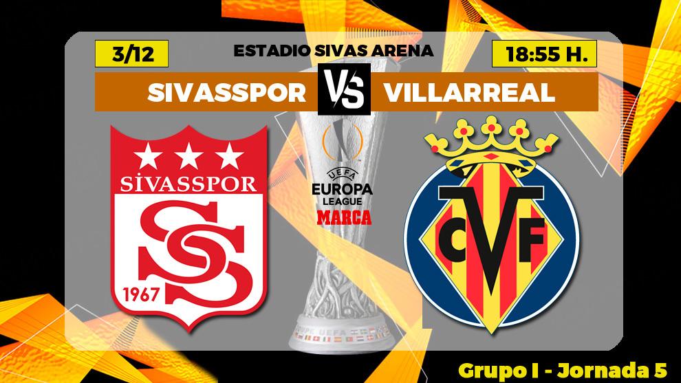 Sivasspor - Villarreal: horario, canal y donde ver en TV hoy el...