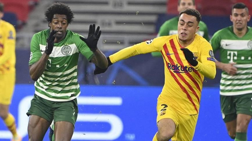 El uno a uno del Barcelona contra el Ferencvaros: no hay quien tosa a Dest