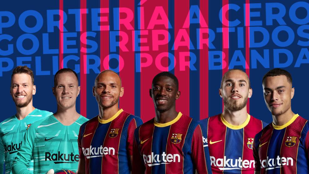 Jugadores del FC Barcelona de Koeman