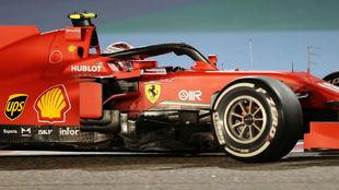 Carles Leclerc, con el Ferrari SF1000, en el pasado GP de Bahréin.
