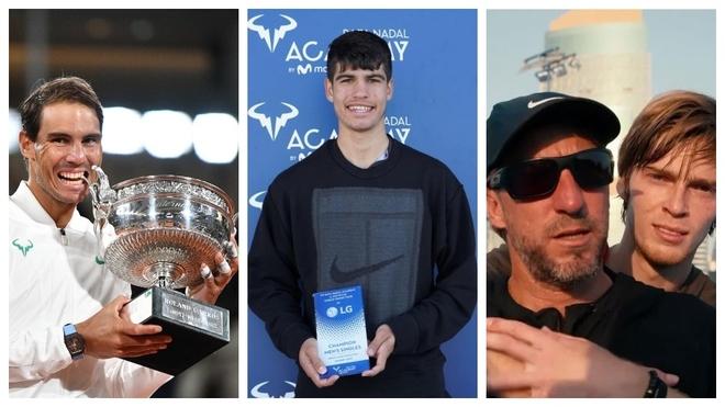 Nadal, Alcaraz y el entrenador Fernando Vicente, nominados en los premios ATP