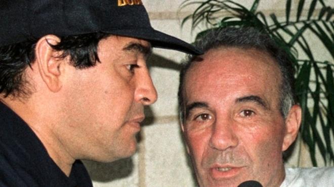 Diego Maradona et Alfredo Cahe