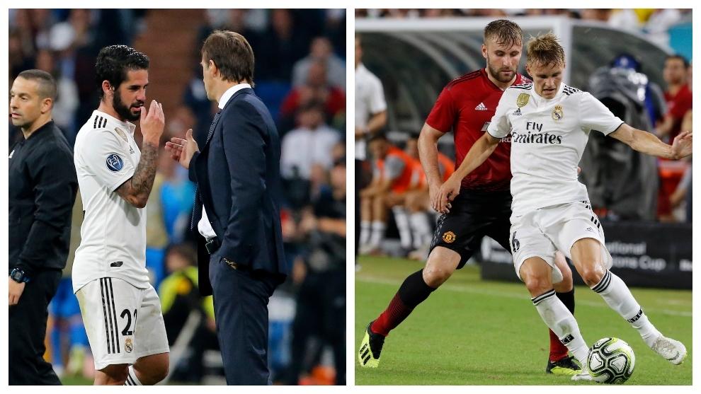 """Lopetegui se enfrenta a dos de sus  """"y si..."""" en el Madrid: Odegaard e Isco"""