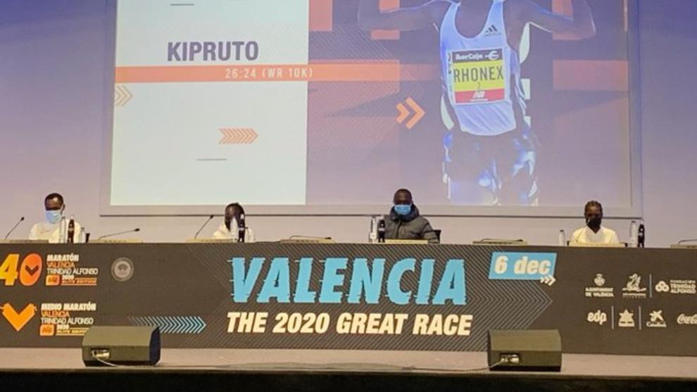 Rueda de prensa élite del Maratón de Valencia 2020.