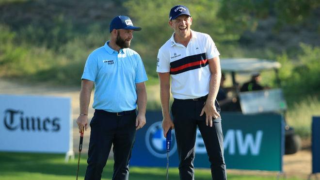Andy Sullivan y Matt Wallace en la tercera jornada del Dubái...