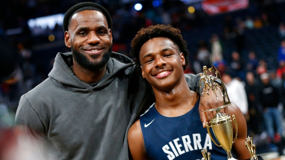Will LeBron James and his son get to play together in the NBA?