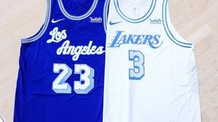 Mira cómo lucen los nuevos uniformes de los Lakers para la próxima...