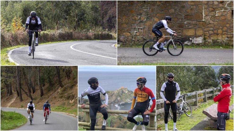 Montaje de imágenes de la ruta ciclista organizada por MARCA