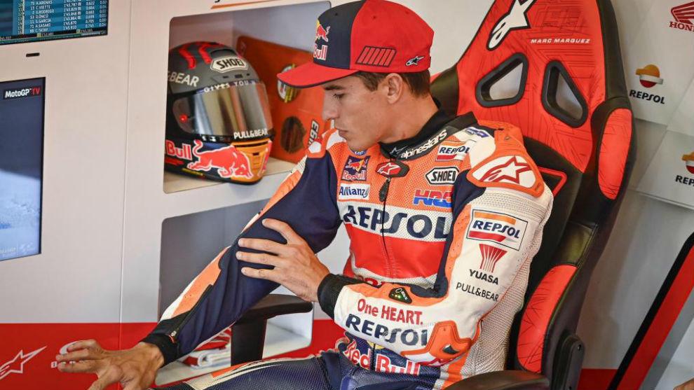Marc Márquez, en su regreso precipitado al Gran Premio de Andalucia.