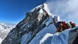 El pico del Monte Everest.