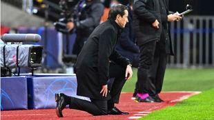 Julien Stéphan (40), entrenador del Rennes, durante un partido.