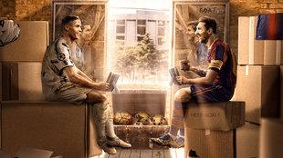 Lo que no se ve de la imagen de Cristiano Ronaldo y Messi