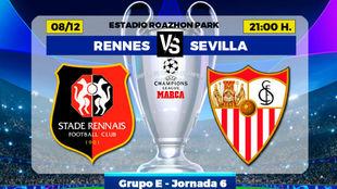 Rennes - Sevilla: horario y dónde ver por televisión hoy el partido...