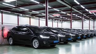 Flota de Tesla Model S de Bios-Group.