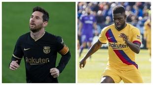 Leo Messi y Samuel Umtiti.