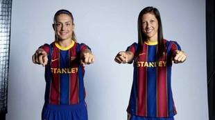 Alexia Putellas y Jenni Hermoso, en una sesión fotográfica de...