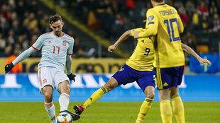 Fabián da un pase en un Suecia-España de fase de clasificación para...