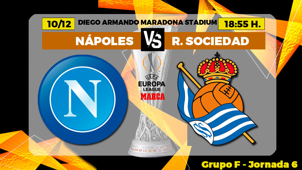 Napoles - Real Sociedad: horario, canal y donde ver por TV hoy el...