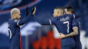Neymar y Mbappé, claros protagonistas de la noche