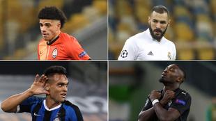 La clasificación del grupo del Madrid, Inter, Borussia y Shakhtar