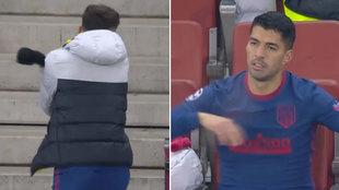 Tremendo enfado de Suárez y Sául: malas caras, puñetazos...