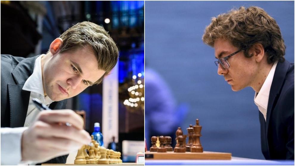 Magnus Carlsen y David Antón.