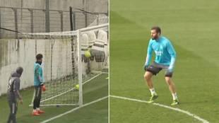 Sesión de golazos del Real Madrid y... ¡grito épico de Nacho tras un voleón!