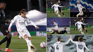 Luka Modric, contra el Borussia Monchengladbach.