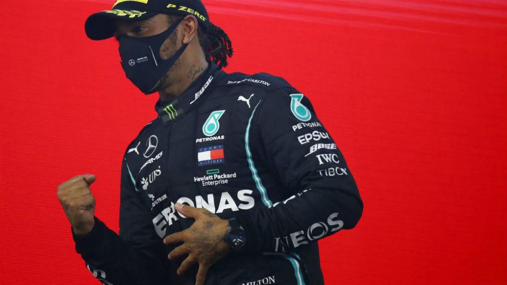 Hamilton, en el GP de Bahréin, la última prueba que corrió y ganó...