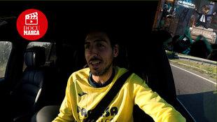 Fotograma de Parejo respondiendo al 'incidente' del sofá que regaló...
