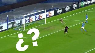 La Real se jugaba la eliminación... ¡y Portu falló este gol cantadísimo en Nápoles!