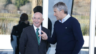 Serra y Setién, durante su etapa en el Betis