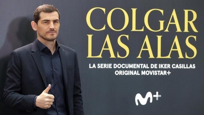 Casillas, durante a presentaci