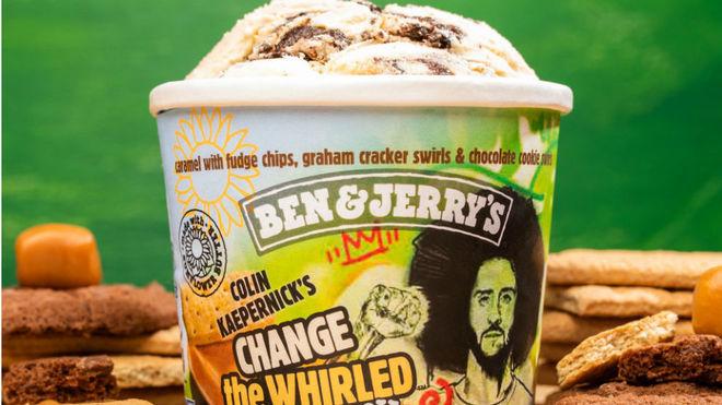 Colin Kaepernick y su activismo ya tienen un sabor de helado: 'Change the Whirled'