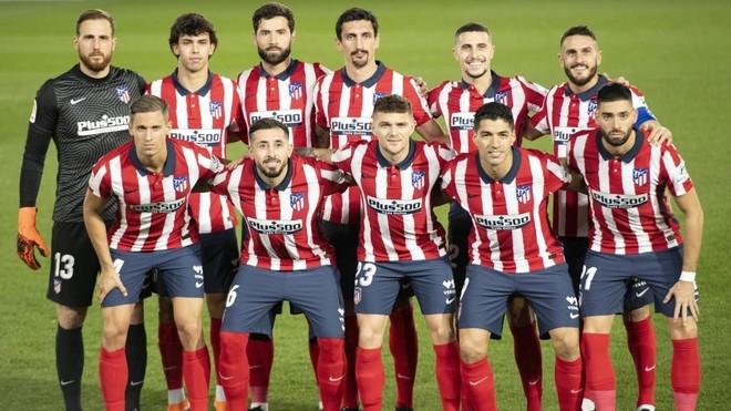 El once del Atlético que jugó ante el Real Madrid.