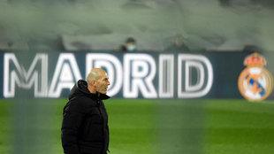 Zinedine Zidane, durante el partido contra el Atlético