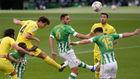 Pau Torres, marcando el 0-1