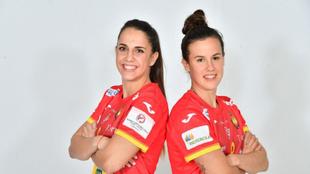 Las jugadoras madrileñas Carmen Campos y Silvia Arderius /
