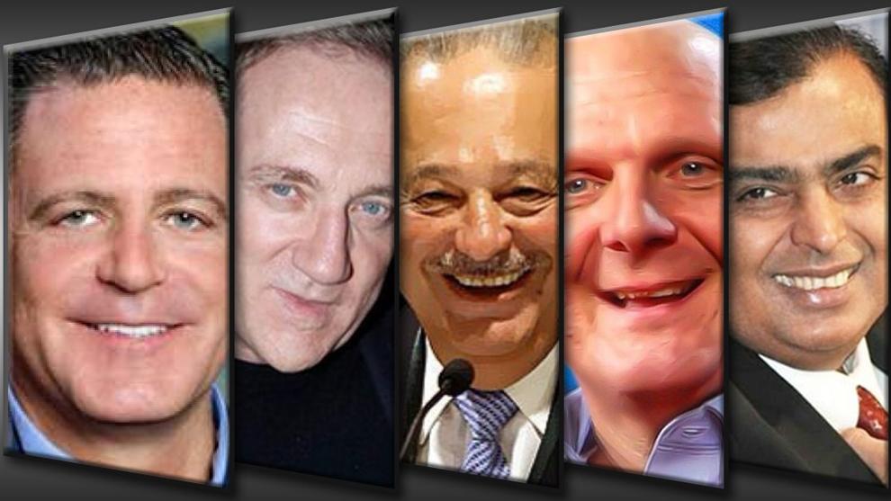 Mukesh Ambani, Steve Ballmer, Carlos Slim, François-Henri Pinault and...